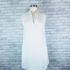 CLOTH & STONE Bright White Tencel Sleeveless Dress